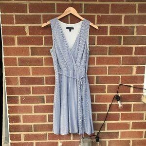 Striped Wrap Dress 🛥 Banana Republic